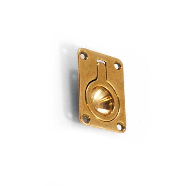 RECESSED GOLD PULL RING FOR HIDDEN DOOR